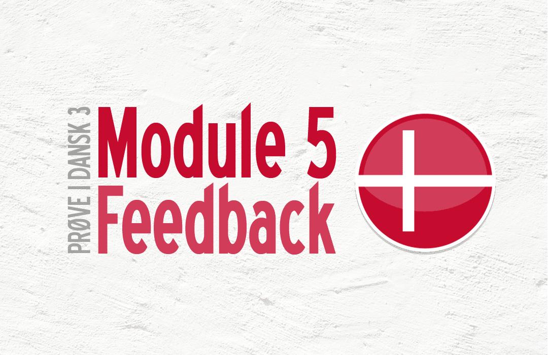 Prøve i Dansk 3- module 5 Feedback